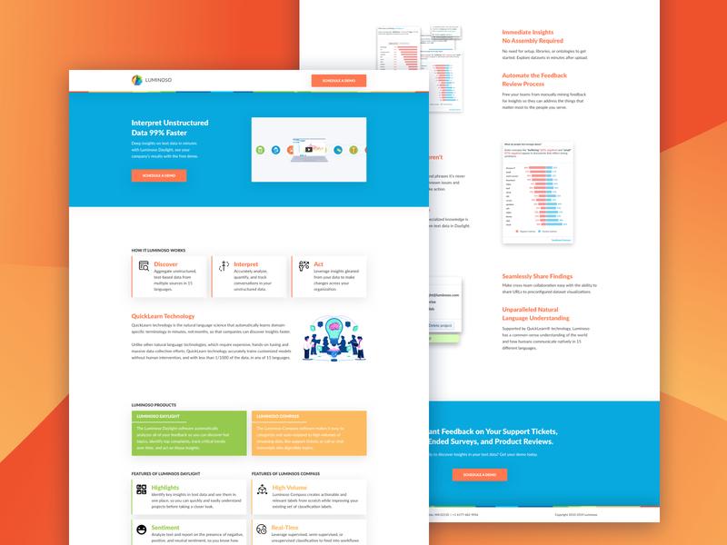 Analytics AI Landing Page web design ux design ui  ux landing page conversion design web layout design cro branding