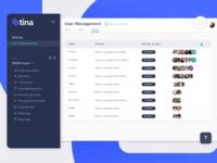 Team Management screen user management administration app uiux design fintech superannuation finance grow super grow fin-tech design ux ui