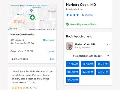 Web Presence for Doctors ux healthcare web design sketch ui