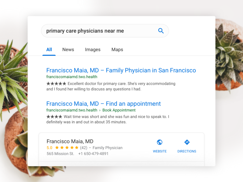 Practice Growth branding healthcare sketch illustration design website