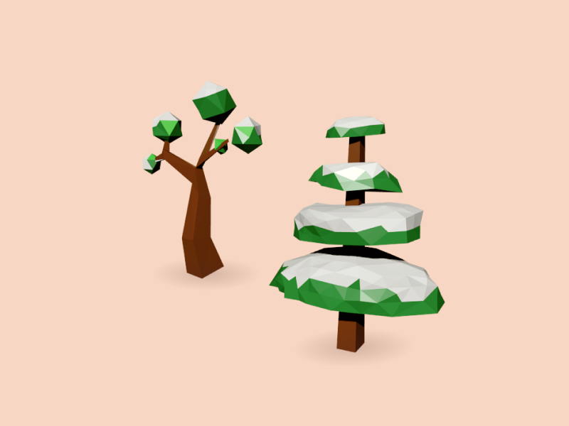 3D sketches blender lowpoly