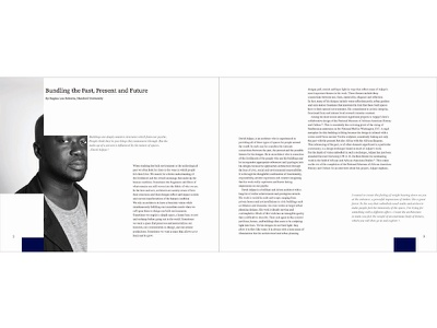 David Adjaye: Pattern and Light, Pages 2 & 3 cropping book light pattern david adjaye print design book design graphic design