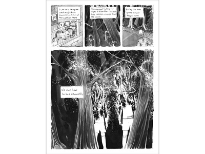 Beyond, Page 5 universe stars ink wash comic book cover space design graphic design black and white ink paint illustration comics
