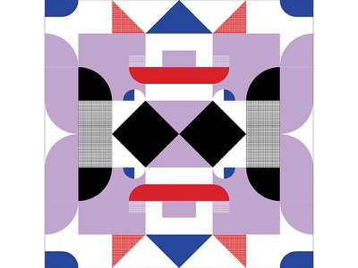 Kaleidoscope Poster Series 1, Poster 2 kaleidoscope red purple blue modern playful colorful geometry print design poster illustration graphic design