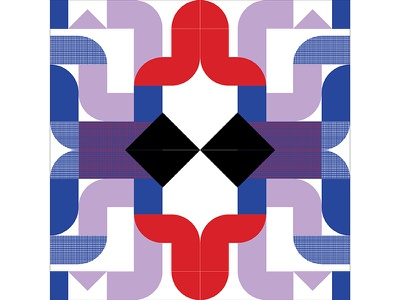 Kaleidoscope Poster Series 1, Poster 5 kaleidoscope red purple blue modern playful colorful geometry print design poster illustration graphic design