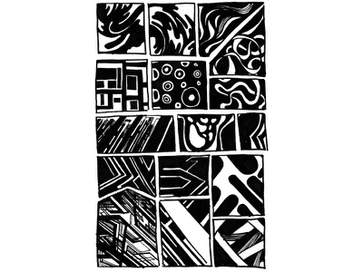 Hand Drawn Design Series, #5 poster geometric line graphic design design graphic pattern doodle black and white marker illustration drawing