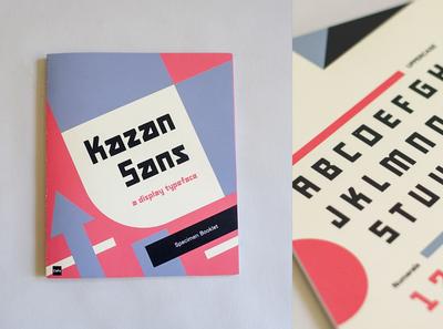 Kazan Sans Specimen Booklet print book typeface constructivism suprematism kazan rodchenko russia display font specimen type typography