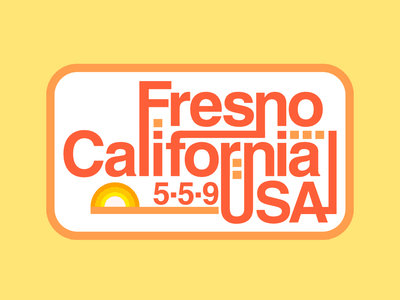 Fresno, CA city vector helvetica type typography badge california 559 central valley fresno