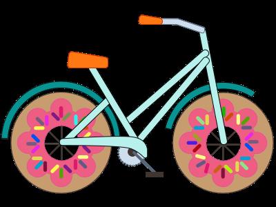 Sweet Sammi Sprinkles bicycle donut