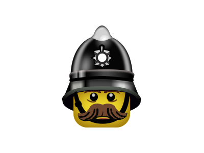 Lego Popo (UK) daily svg images constable police lego