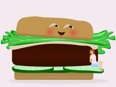 Burger baby announcement hamburger burger