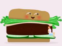 Burger baby announcement