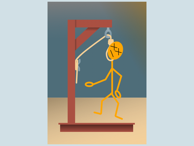 Hangman did not guess the word hangman sketch
