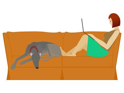 The greyhound and I selfie greyhound