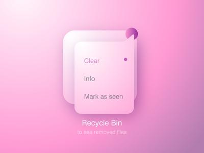 Recycle Bin Drop Down