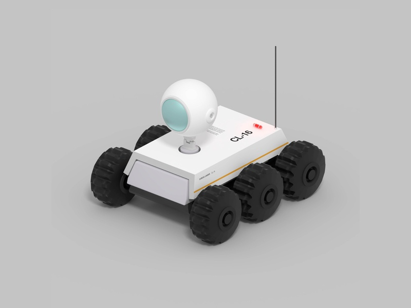 CL-16 character movie game asset drone rover astronaut space 3d modeling concept game lowpoly modeling illustration 3d robot