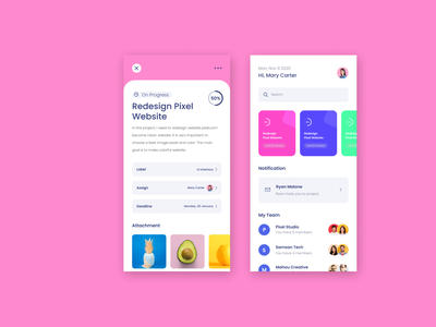 UI/UX Productivity App app design ux ui