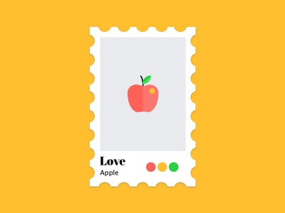 Apple colors stamped colors apple
