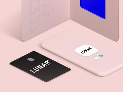 Lunar branding logo design bank rebrand