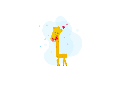 The drooling Mr. Giraffe freestyle
