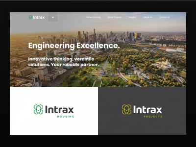 Intrax - Concept engineering landing page design ui