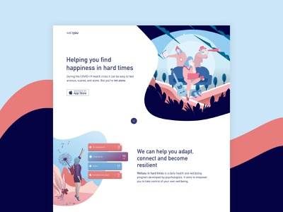 Wellyou wellbeing health illustration ui ux design