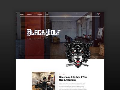 Black Wolf Collective wolf design ui ux