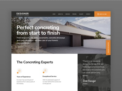 Designer Concrete Finishes construction concrete design ux ui