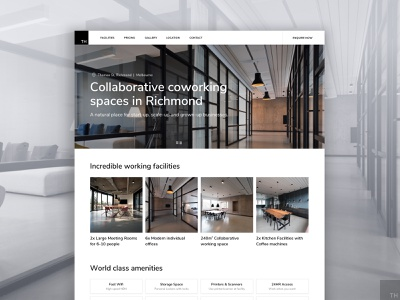 Thomas Highett Co-working Spaces business coworking coworking space office ui design ux
