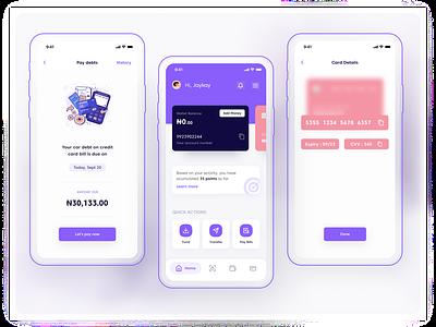 Swipe Mobile App mockup loan finance mobile ui ui ux design