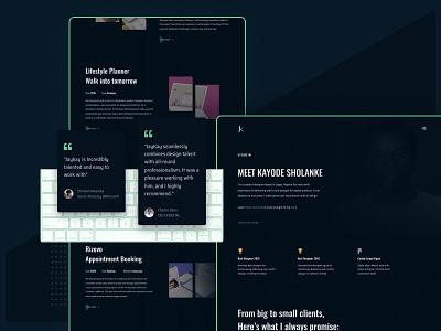 My Portfolio Website profile design landing page portfolio