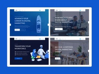 LANDING PAGE BANNERs training web design uiux digital marketing