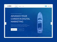 Digital Marketing Course Hero Section ux website design hero section banner brand identity ui branding design uiux digital marketing