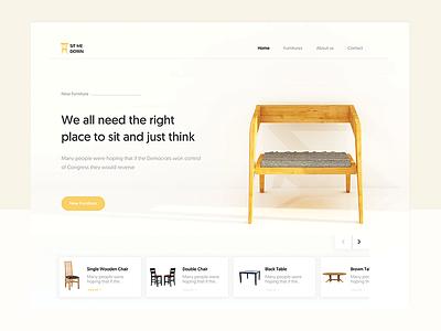 SIT ME DOWN LANDING PAGE web design uiux landing page