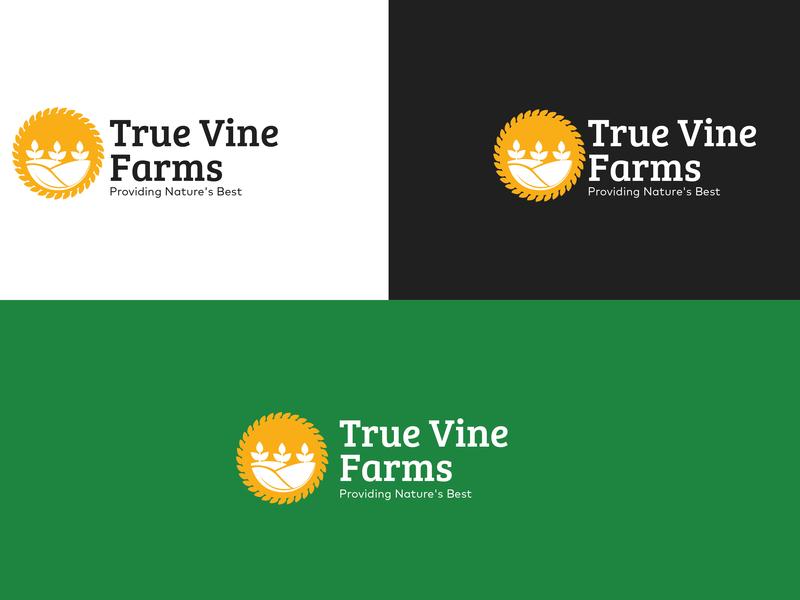 True Vine Logo farming design illustraion logo design branding design brand identity logodesign