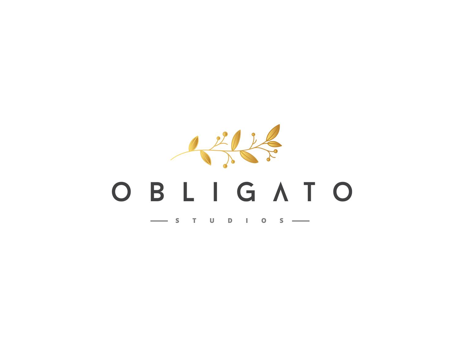 OBLIGATO PHOTO STUDIO illustraion design logo branding branding design brand identity photography