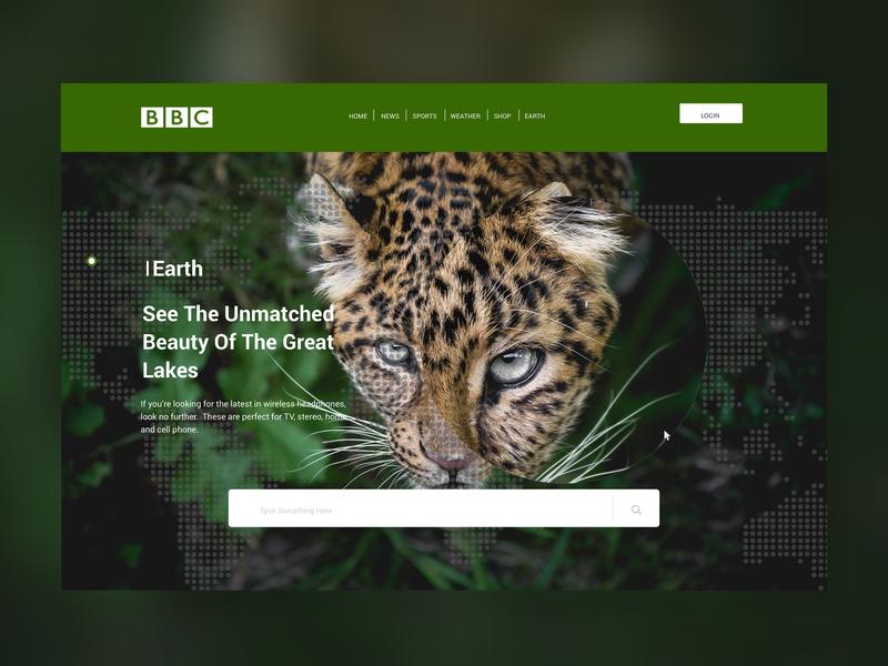 BBC EarthLanding Page landing page design landing design landingpage web webdesign website uiux uidesign ux ui