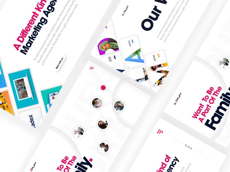 Digital Agency Web design landing page design landing page web website web design digital agency agency website agency ux minimalist ui  ux uiux