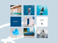 Blue Mood Board