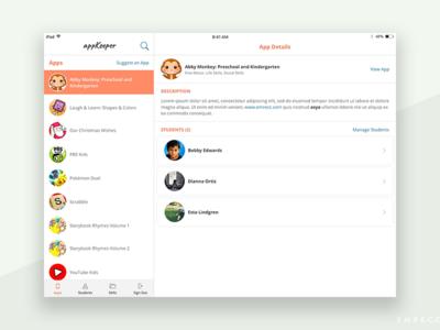 appKeeper iPad App Design