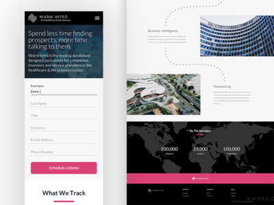 Warm Intro Responsive Home Page