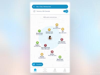 URSPOT Mobile App Daytime UI