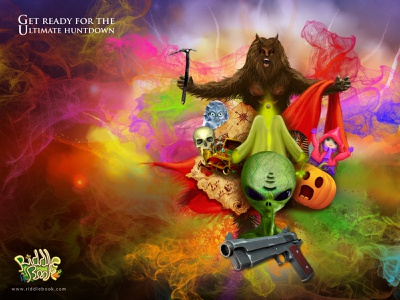 It's all imaginary halloween smoke game design game gun colours character character design graphics illustration