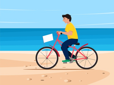 Beach side cycling