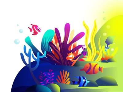 Ocean- A candid world of diversity colours plants fish ocean life illustration art illustration ocean