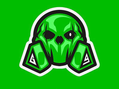 GUNSGANESH MASCOT badge logo badgedesign vector esport char mascot graphic brand identity design logo