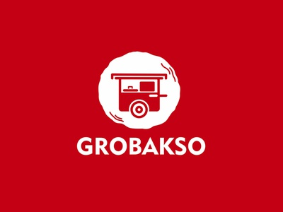 grobakso meatball foodie food delivery branding graphic brand identity design logo food bakso