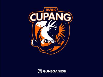 IWAK CUPANG branding vector forsale design logo mascot fish betta fish betta