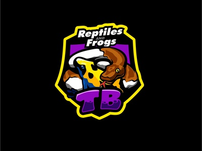 tbreptile frog sold mascotlogo mascot brand frog reptile