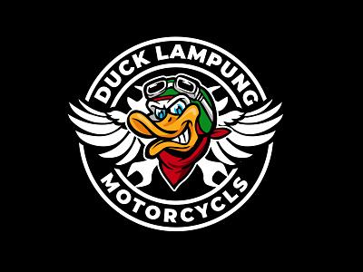 duck lampung bebek community identity vector branding graphic brand logo design duck